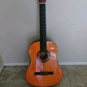 Guitar with carrying bag